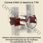 Опора неподвижная двухупорная трубопроводов Дн 32-1420 мм ТС-660.00.00 СБ серия 5.903-13 выпуск 7-95 рис.1