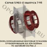 Опора неподвижная щитовая усиленная трубопроводов Дн 426-1420 мм ТС-667.00.00 СБ серия 5.903-13 выпуск 7-95 рис.2