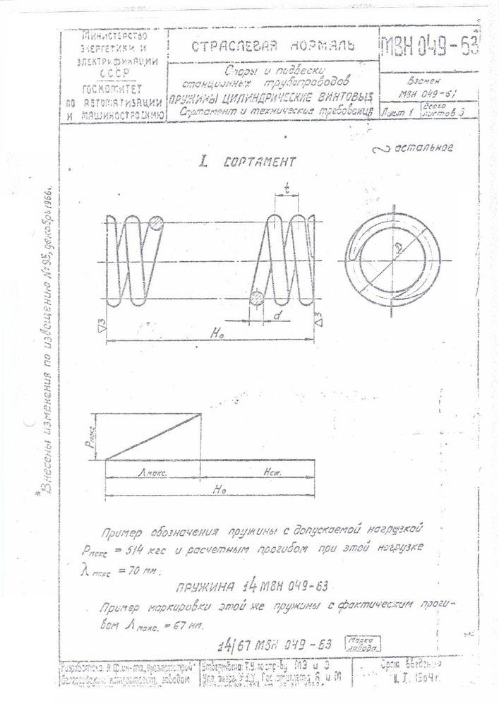 Пружины МВН 049-63 стр.1