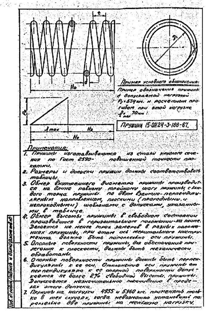 Пружины ОН-24-3-188-67